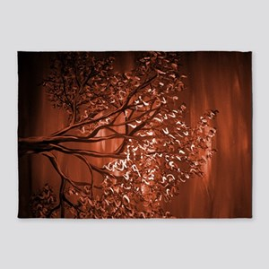 Tree Of Life Chocolate 5'x7'Area Rug