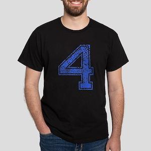 4, Blue, Vintage Dark T-Shirt