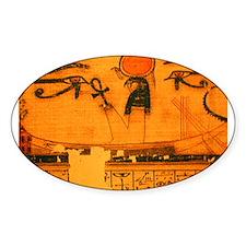 RA in SOLAR BARQUE Oval Sticker