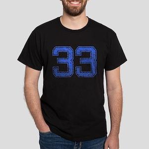 33, Blue, Vintage Dark T-Shirt