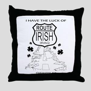 Route Irish 3 Throw Pillow
