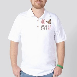 40th Birthday Butterfly Golf Shirt