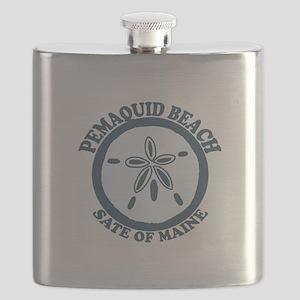 Pemaquid Beach - Sand Dollar Design. Flask