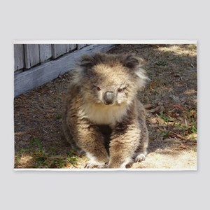 Cute Wild Koala 5'x7'Area Rug