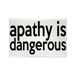 Apathy Is Dangerous Rectangle Magnet (10 pack)