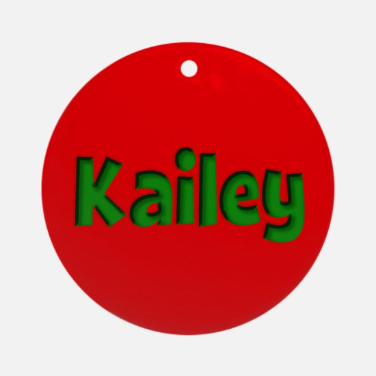 Kailey Red and Green Ornament (Round)