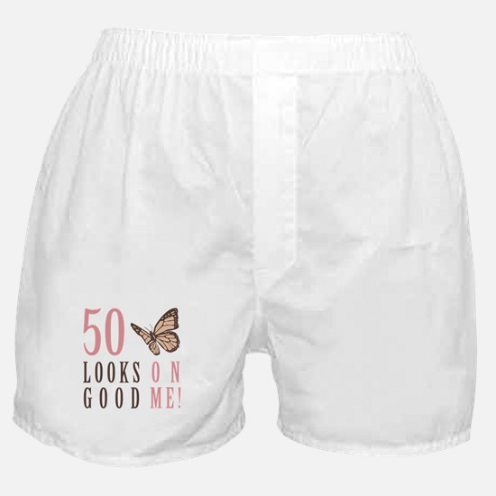50th Birthday Butterfly Boxer Shorts