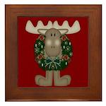 Christmas Moose Framed Tile
