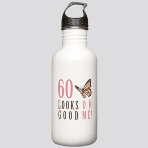 60th Birthday Butterfly Stainless Water Bottle 1.0