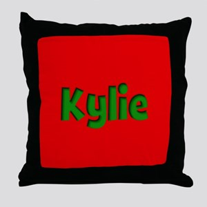 Kylie Red and Green Throw Pillow