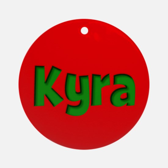 Kyra Red and Green Ornament (Round)