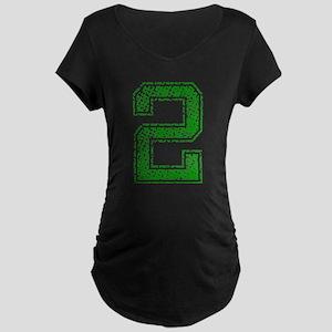 2, Green, Vintage Maternity Dark T-Shirt