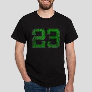 23, Green, Vintage Dark T-Shirt