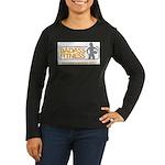Badass logo Women's Long Sleeve Dark T-Shirt