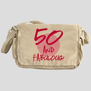 50 And Fabulous Messenger Bag