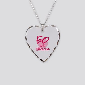50 And Fabulous Necklace Heart Charm