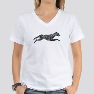 Irish Wolfhound Women's V-Neck T-Shirt