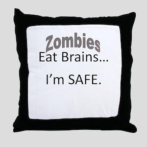 Zombies Eat Brains Throw Pillow