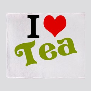 I Love Tea Throw Blanket