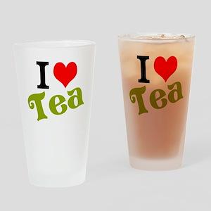 I Love Tea Drinking Glass