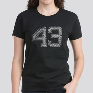 43, Grey, Vintage Women's Dark T-Shirt