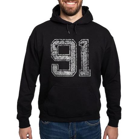 91, Grey, Vintage Hoodie (dark)