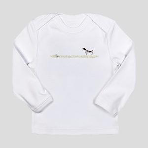 Liver Tick GSP on Chukar Long Sleeve Infant T-Shir