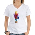 rAdelaide SA5000 tee shirts Women's V-Neck T-Shirt