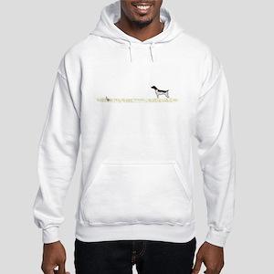 Liver Tick GSP on Chukar Hooded Sweatshirt