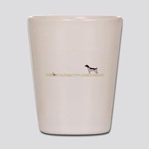Liver Tick GSP on Chukar Shot Glass