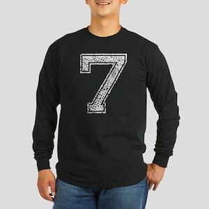 7, Vintage Long Sleeve Dark T-Shirt