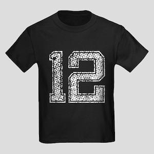 12, Vintage Kids Dark T-Shirt