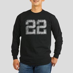 22, Vintage Long Sleeve Dark T-Shirt