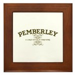Pemberley A Large Estate In Derbyshire Framed Tile