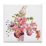 Antique Flowers Tile Coaster