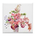 Antique Flowers Tile Coaster