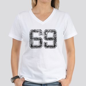69, Vintage Women's V-Neck T-Shirt