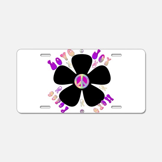 Peace Sign.png Aluminum License Plate
