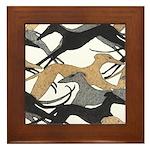 Leaping Hounds Framed Tile