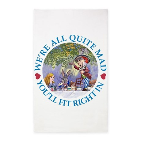We're All Quite Mad 3'x5' Area Rug