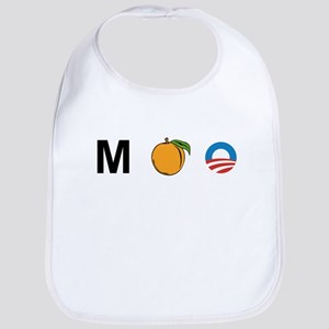 M-Peach-Obama Bib