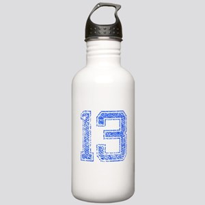 13, Blue, Vintage Stainless Water Bottle 1.0L
