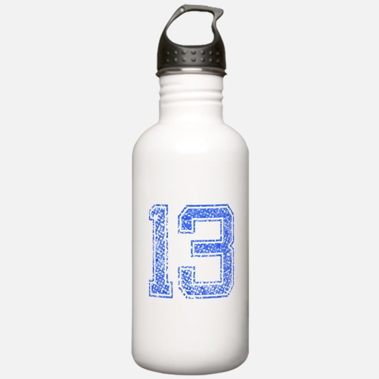 13, Blue, Vintage Water Bottle