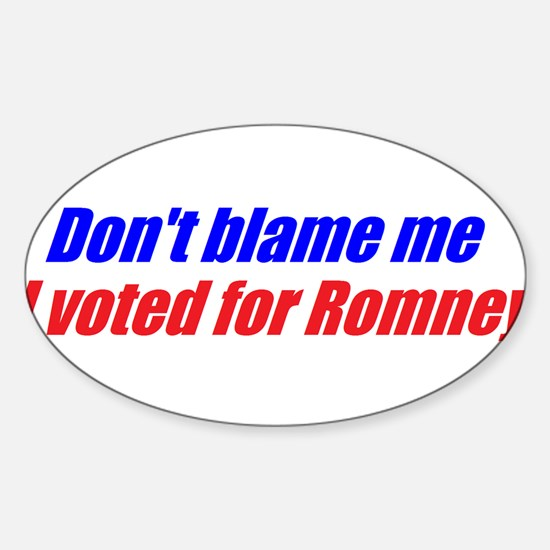 Unique I voted for romney Sticker (Oval)