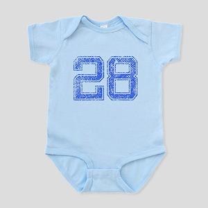 28, Blue, Vintage Infant Bodysuit