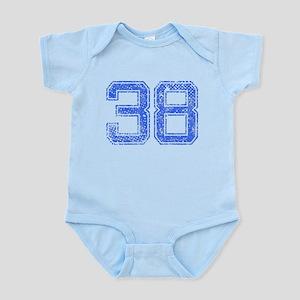 38, Blue, Vintage Infant Bodysuit