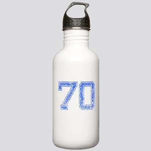 70, Blue, Vintage Stainless Water Bottle 1.0L
