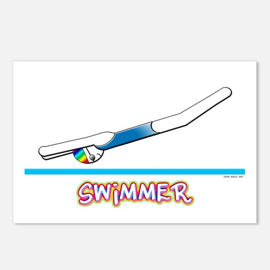 Swimmer (Girl) Postcards (Package of 8)