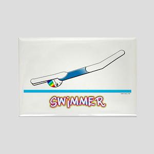 Swimmer (Girl) Rectangle Magnet