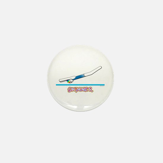 Swimmer (Girl) Mini Button